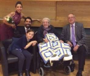 Tango Dancers' Surprise for Hospice Patient image