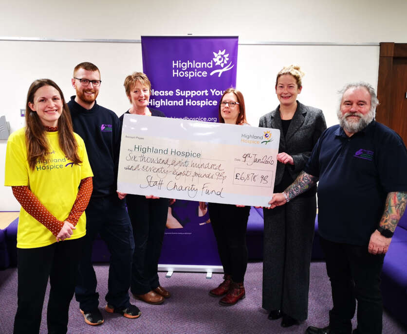 Highland Hospice Thanks Highland Council Staff for Generous Donation image