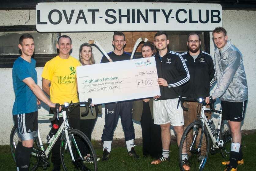 Lovat Shinty Club Raise £14,000 in Cycle Challenge image
