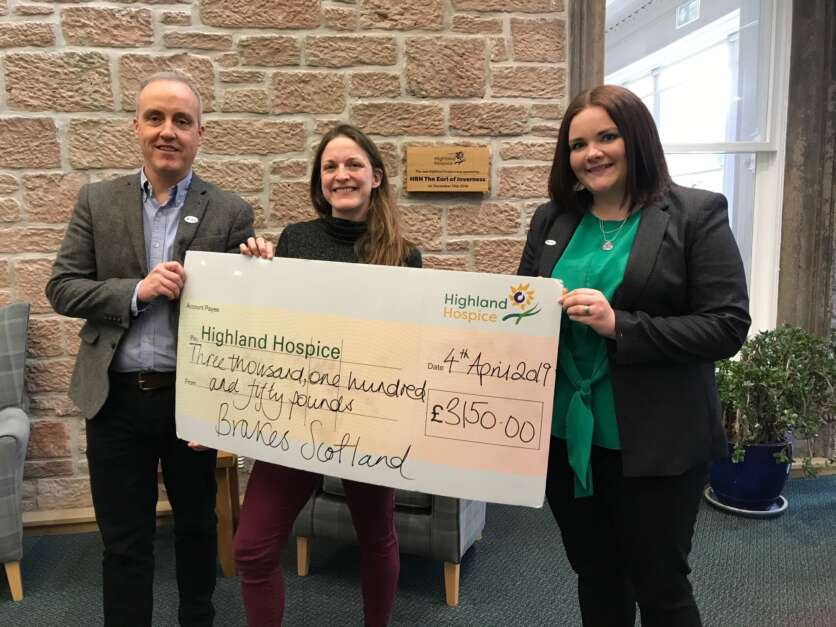 Brakes sales team raise thousands for Highland Hospice image